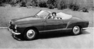 VW Karmann Ghia Cabriolet fra 1957