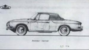 Tegning av VW Karmann Ghia Type 3