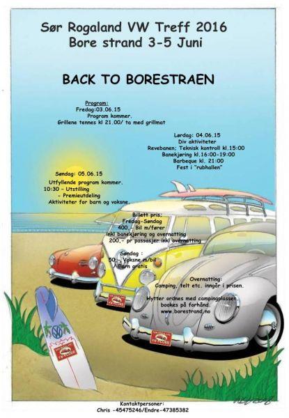 Sør Rogaland VW Treff 2016 Poster