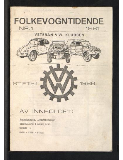 1981 Folkevogn Tidende 1