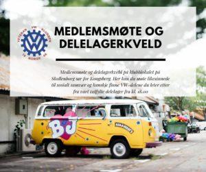 Medlemsmøte og delelagerkveld @ Veteran VW klubben | Buskerud | Norge